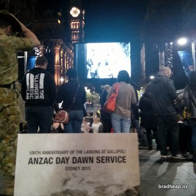 Sydney ANZAC Day Dawn Service 2015